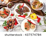 Assorted Grilled Meats And...
