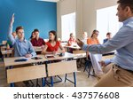 education  school and people... | Shutterstock . vector #437576608