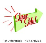 Big Banner For Super Sale With...