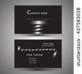 black line modern creative and... | Shutterstock .eps vector #437583028