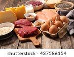 protein sources | Shutterstock . vector #437586154