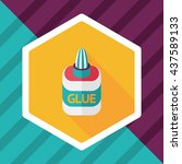 glue flat icon with long shadow ...