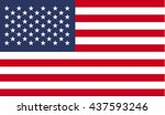 usa flag. flag of united states ... | Shutterstock .eps vector #437593246