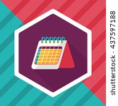 calendar flat icon with long...