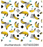 abstract seamless pattern.... | Shutterstock .eps vector #437603284