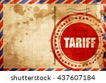 tariff  red grunge stamp on an...