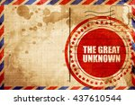 The Great Unknown  Red Grunge...