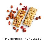 healthy cereal bars with nuts... | Shutterstock . vector #437616160
