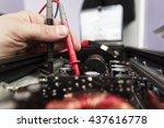 Tech Tests Electronic Equipmen...
