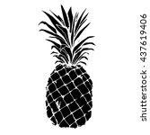 pineapple  vector  fruit  food  ... | Shutterstock .eps vector #437619406