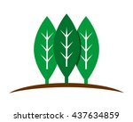forest leaf leaves plant nature ... | Shutterstock .eps vector #437634859