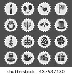 holidays web icons for user... | Shutterstock .eps vector #437637130