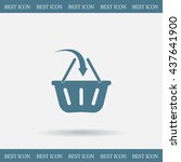 vector shopping basket icon | Shutterstock .eps vector #437641900