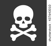 skull with crossbones icon on... | Shutterstock .eps vector #437643010
