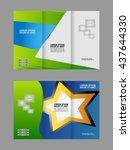 tri fold brochure and catalog... | Shutterstock .eps vector #437644330