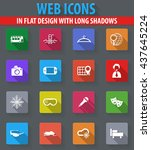travel web icons in flat design ... | Shutterstock .eps vector #437645224