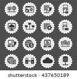 server web icons for user... | Shutterstock .eps vector #437650189
