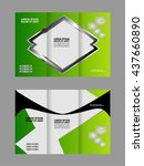 brochure design template... | Shutterstock .eps vector #437660890