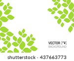 abstract background with nature ... | Shutterstock .eps vector #437663773