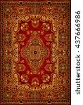 oriental persian carpet texture | Shutterstock . vector #437666986