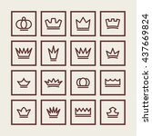 royal icons | Shutterstock .eps vector #437669824