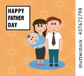 father day | Shutterstock .eps vector #437671798