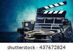 retro film production... | Shutterstock . vector #437672824