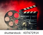retro film production... | Shutterstock . vector #437672914