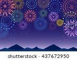 fireworks mountain background | Shutterstock .eps vector #437672950