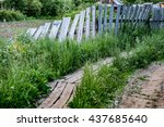 old wooden fence | Shutterstock . vector #437685640