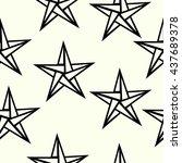 seamless pattern star polygon... | Shutterstock .eps vector #437689378