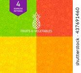 thin line art fruits  ...   Shutterstock .eps vector #437691460