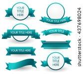 blue banner set isolated on... | Shutterstock .eps vector #437698024