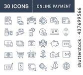 set vector line icons in flat...   Shutterstock .eps vector #437699566