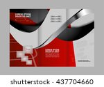 business theme tri fold... | Shutterstock .eps vector #437704660