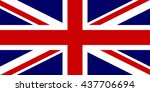 flag of the united kingdom in... | Shutterstock . vector #437706694
