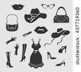 women things vector symbol | Shutterstock .eps vector #437719360