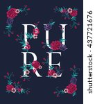 embroidery for fashion with... | Shutterstock .eps vector #437721676