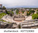 aerial view of the roman...   Shutterstock . vector #437723083