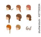 girl character design  | Shutterstock .eps vector #437730334