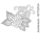 vector abstract hand drawn...   Shutterstock .eps vector #437732914