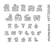 set line icons of machine tool  ... | Shutterstock .eps vector #437733100