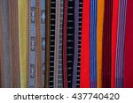 multi color fabric | Shutterstock . vector #437740420