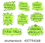 farmer's market  local farms... | Shutterstock .eps vector #437754268