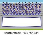 sport fans of blue team...   Shutterstock .eps vector #437754634