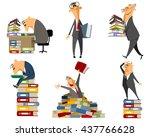 vector illustration of a clerk... | Shutterstock .eps vector #437766628