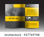 corporate bi fold brochure... | Shutterstock .eps vector #437769748