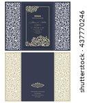 wedding invitation baroque.... | Shutterstock .eps vector #437770246