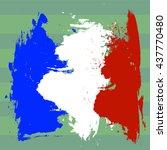 france flag over football field ... | Shutterstock .eps vector #437770480