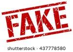 fake stamp.stamp.sign.fake. | Shutterstock .eps vector #437778580